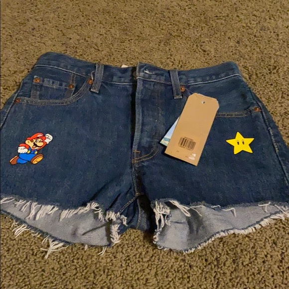 NWT Levi's 501 shorts super Mario size 25